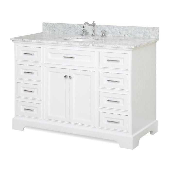 aria 48 single bathroom vanity set bathrooms single bathroom rh pinterest com