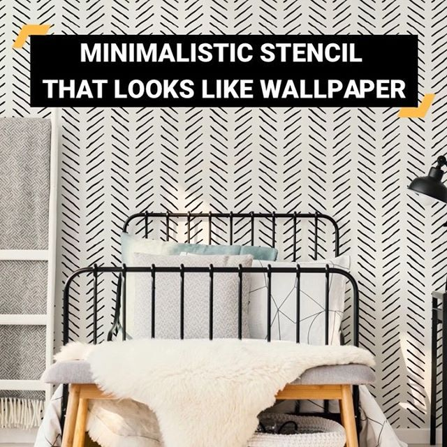 Painting Accent Wall Edges: DIY Painted And Stenciled Accent Wall Makeover Ideas On A
