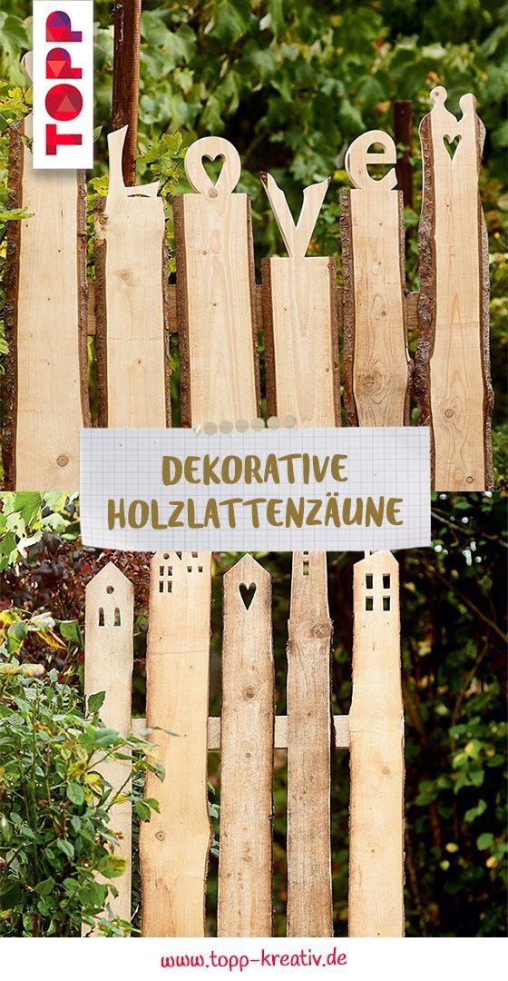 Dekorative Holzlattenzäune Holzideen garten, Zaun