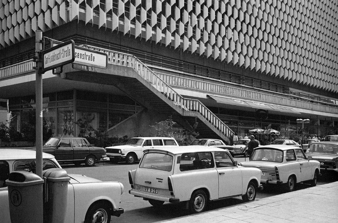 josef kaiser und günter kunert - centrum kaufhaus, alexanderplatz, berlin, 1967