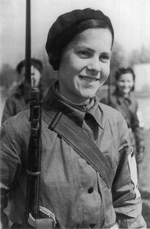 V. Minkina, a girl from Leningrad.