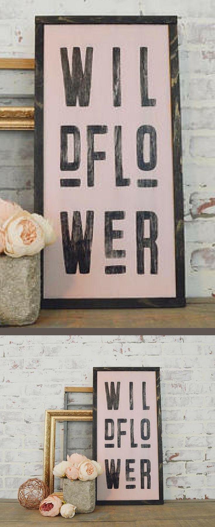 Wildflower framed wall hanging boho wall art boho nursery decor