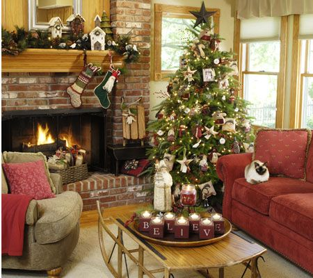 Decorating Ideas From Country Sampler Christmas Living Rooms