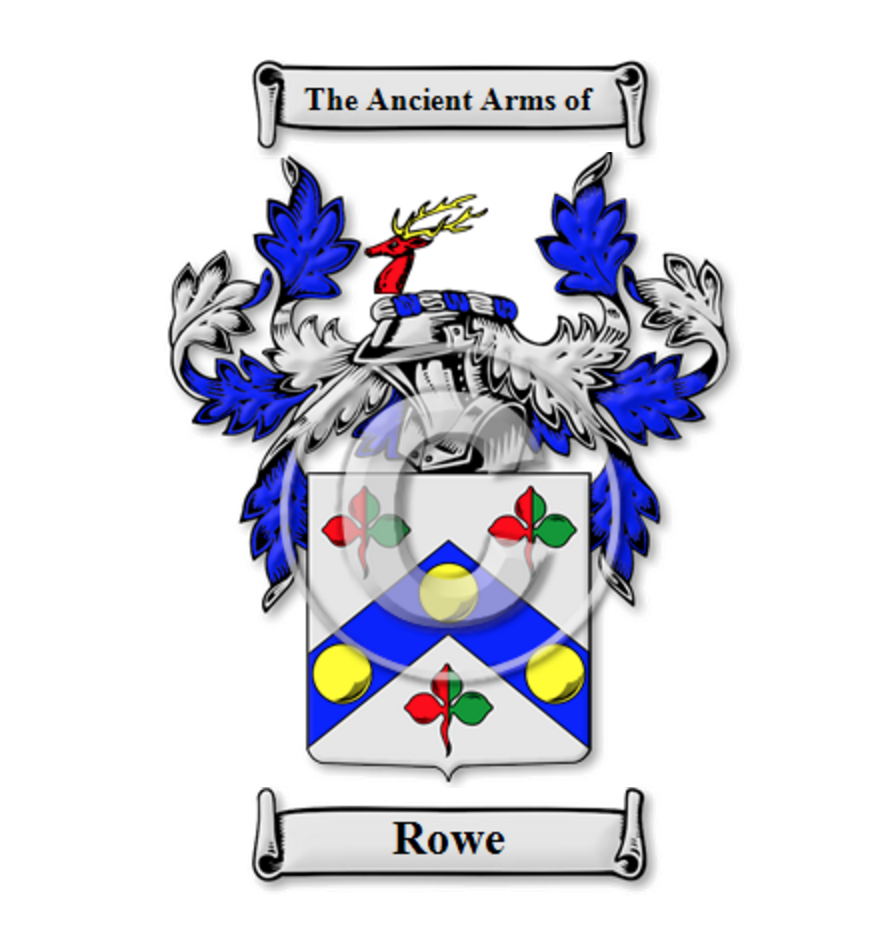 Rowe Family Crest / Coat of Arms | English Alternative