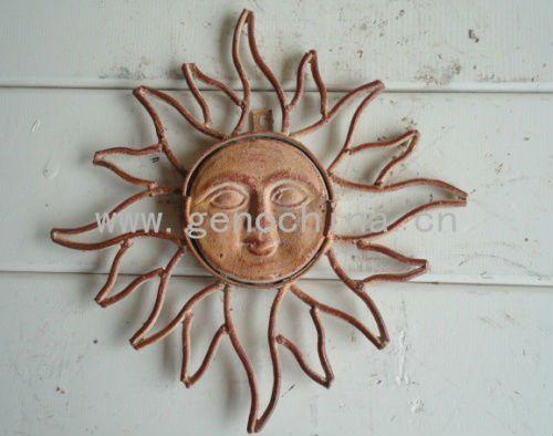 #Outdoor Beautiful Rising Sun Garden Wall Decor, #sun Face