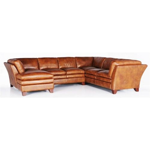 7203 Three Piece Sectional Sofa By Futura Leather Baer S Furniture Sofa Sectional