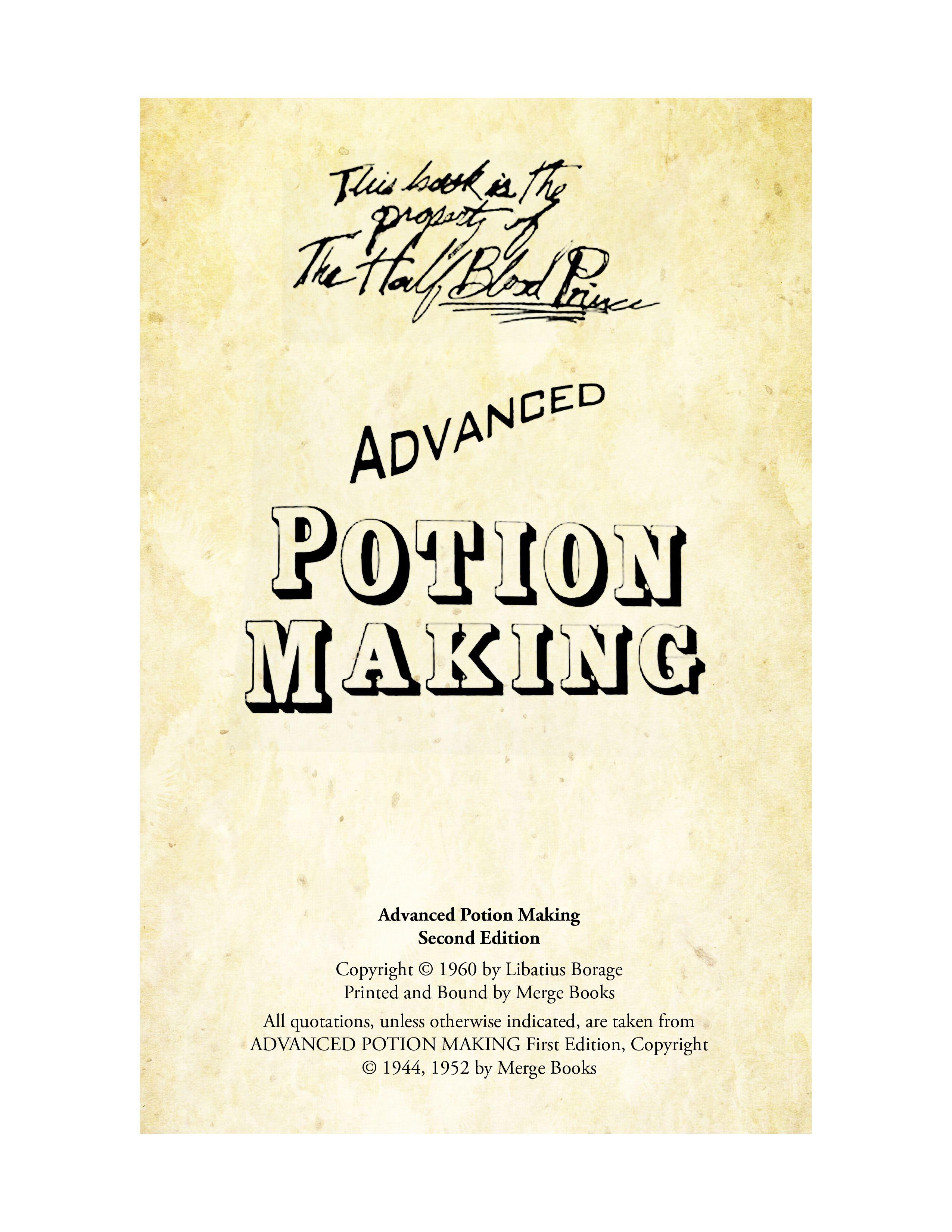 Advanced Potion Making Page 1