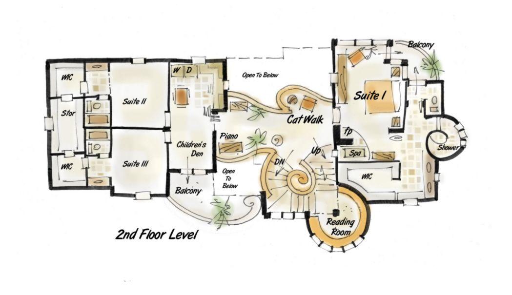 182 2194 Designer House Plan Tiffany Floor Plan B Jpg 1049 605 House Plans House Floor Plans Floor Plans