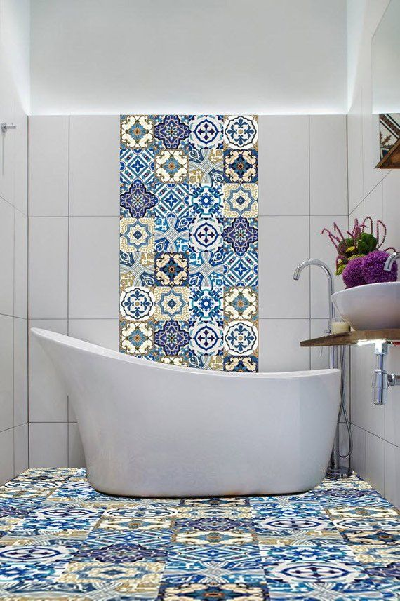 Vinyl Stickers Blue Moroccan Portugues Tiles Azulejo