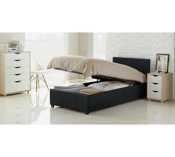 Stupendous Buy Hygena Lavendon Single Ottoman Bed Frame Black At Inzonedesignstudio Interior Chair Design Inzonedesignstudiocom