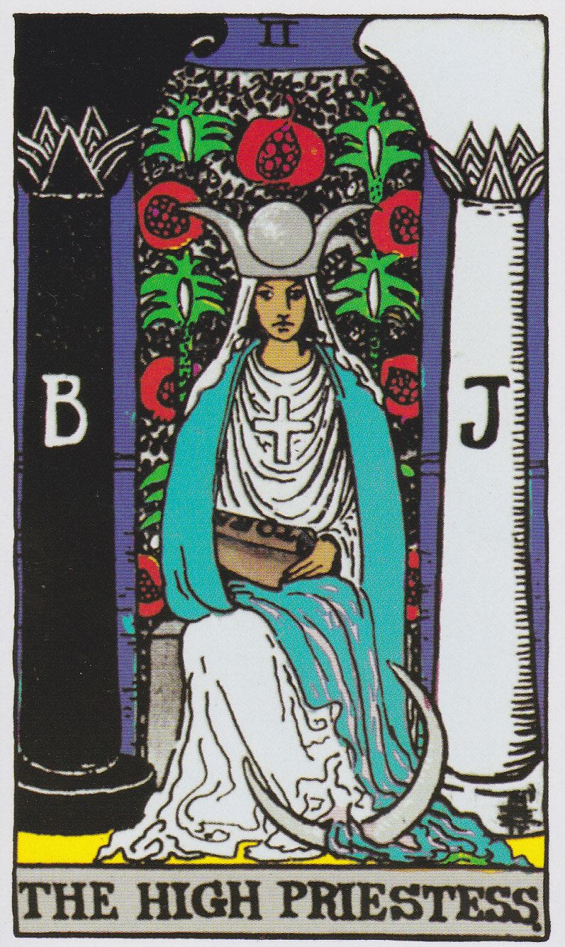 The High Priestess - Albano-Waite Tarot
