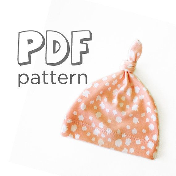 Baby Hat PDF Pattern Baby Jersey Knot Hat by FishKissFabrics Could ...