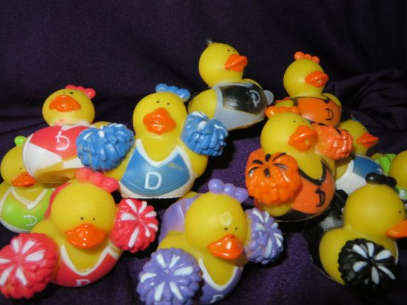 Cheerleading Rubber Duckies, Love All the Pom Poms...