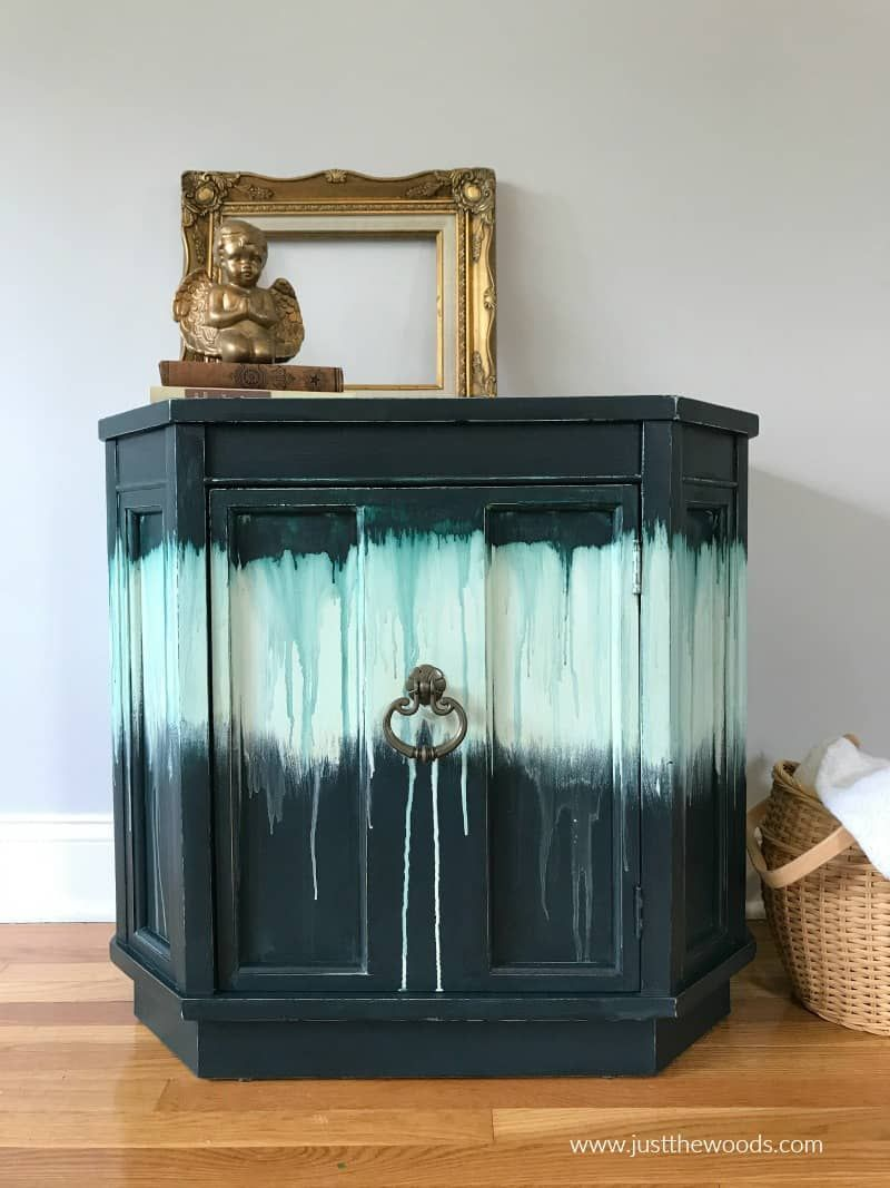 How To Paint Furniture With A Fun Boho Drippy Paint Effect Paint Furniture Beauty Furniture Furniture Painting Techniques