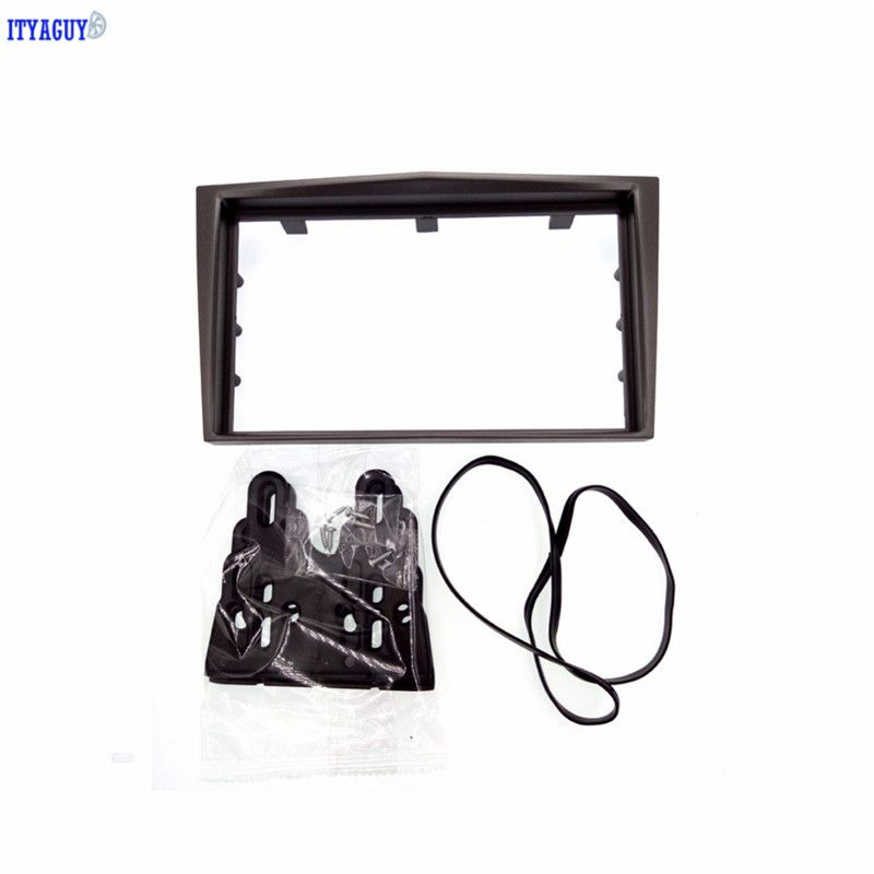 Silver 2Din Car Radio Fascia for 2006+ Opel Vectra Astra
