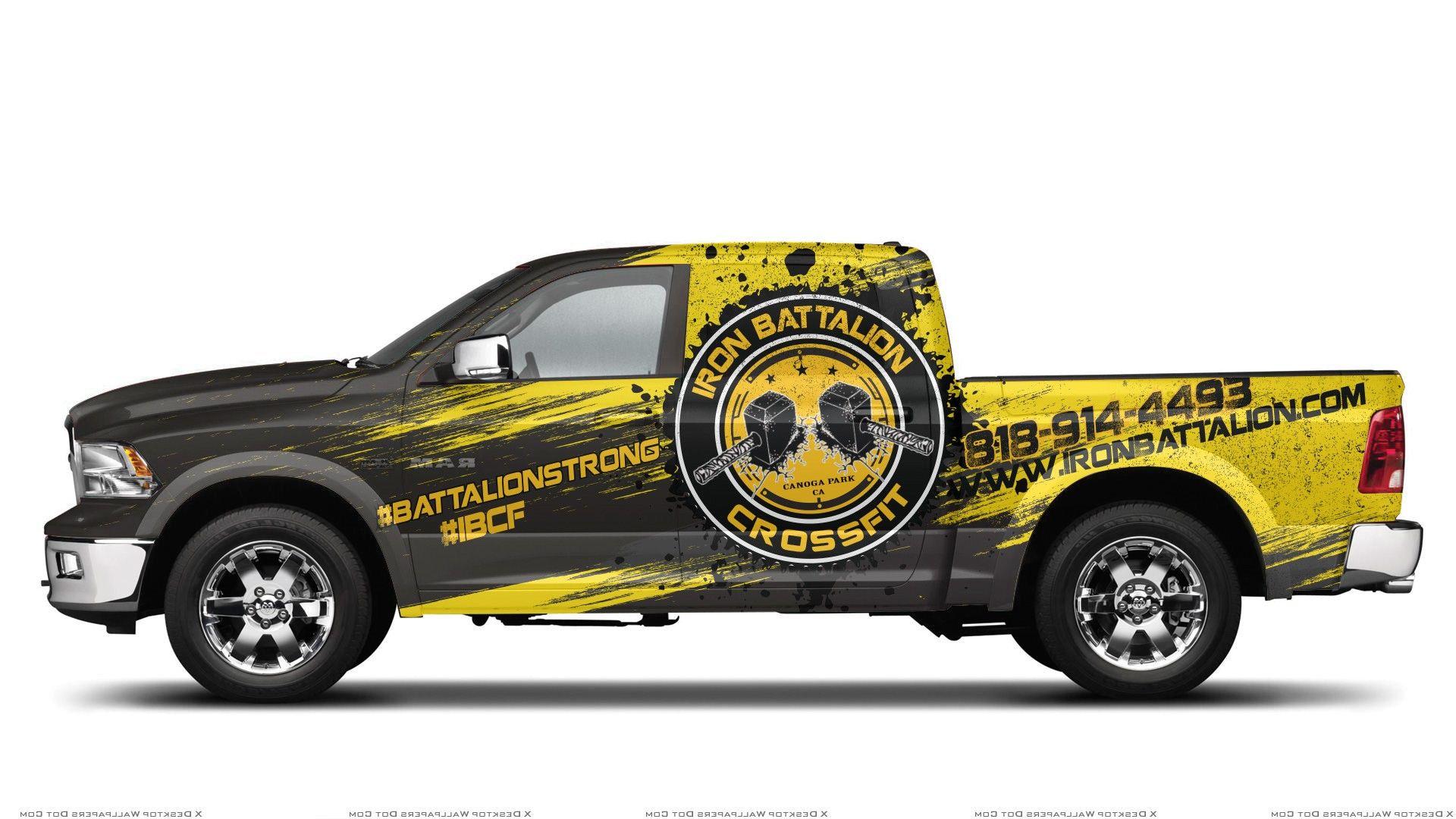 Ram 1500 Wrap For Iron Battalion Crossfit 99designs Car Wrap Design Truck Wraps Graphics Car Wrap [ 1080 x 1920 Pixel ]