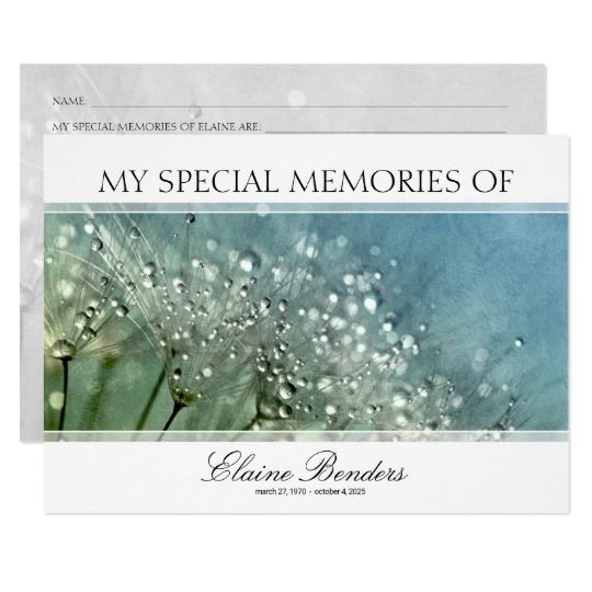 abstract funeral share a memory card template memorial stationery