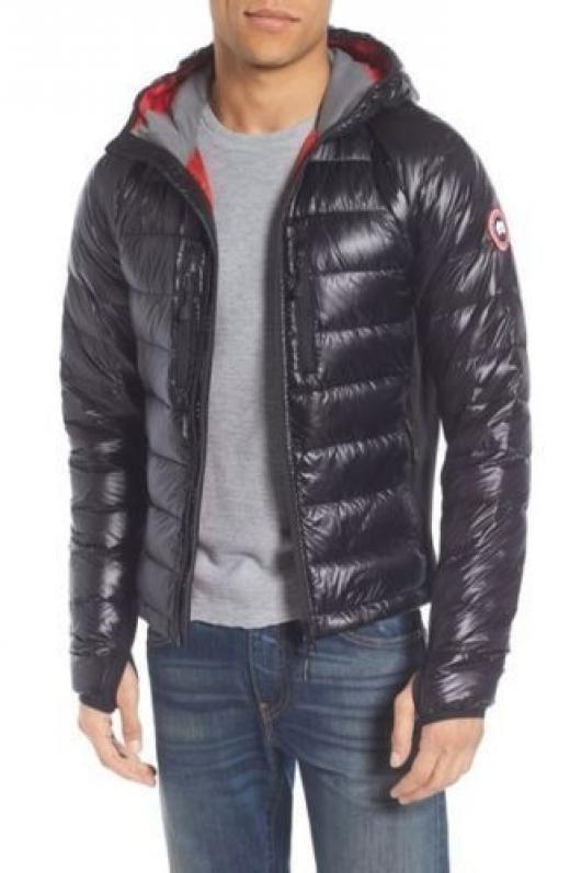 Canada Goose 1295 Men Black Gray Down Lite Hoody Jacket Winter Coat Size S Basic Regular Solid Packable Jacket Winter Jackets Jackets