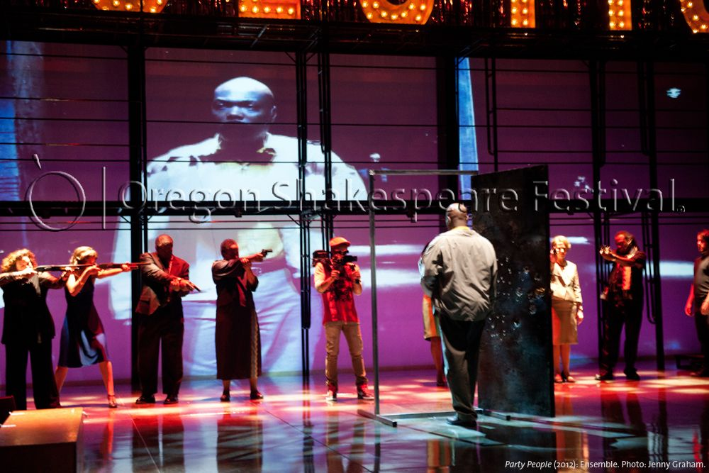 Oregon Shakespeare Festival. PARTY PEOPLE (2012): Ensemble. Photo: Jenny Graham.