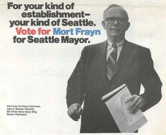 Mort Frayn campaign brochure, 1969 Brochures, Campaign and - political brochure