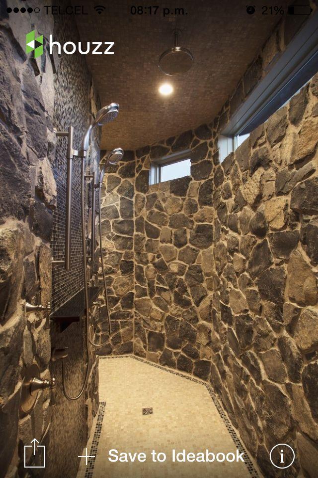 Ba o rustico hierro forjado en 2018 pinterest ba os for Duchas rusticas piedra