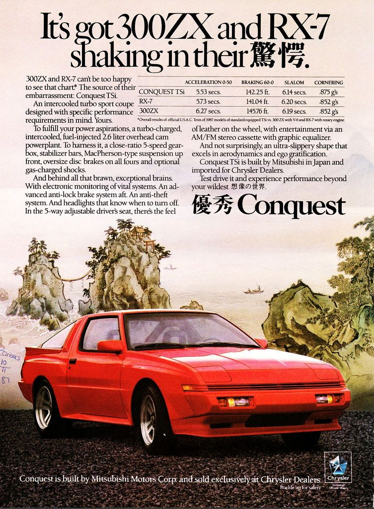 1988 Chrysler Conquest Tsi Chrysler Conquest Japan Cars Retro Cars