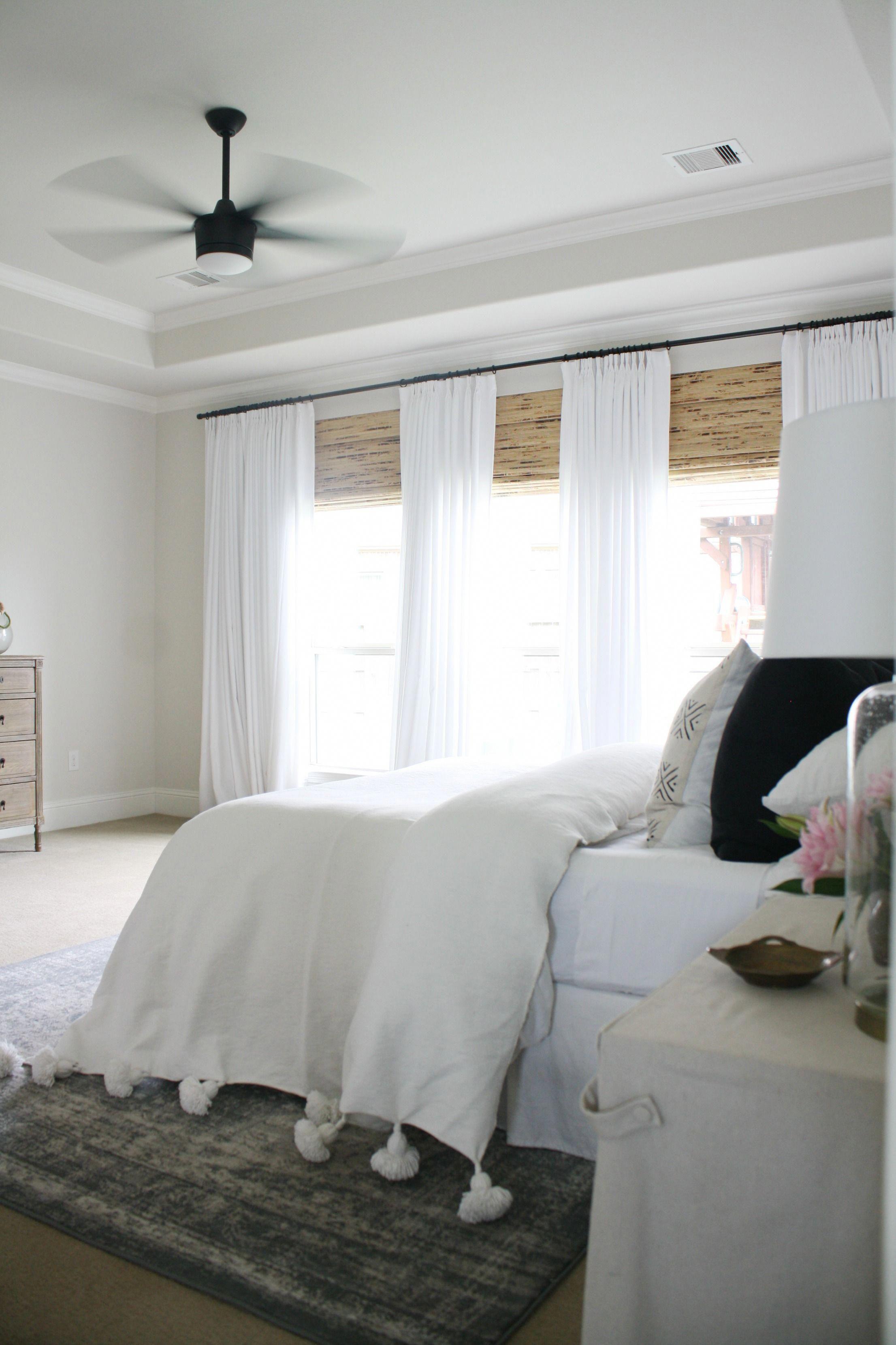 Moroccan Tassel Blanket White Bedding Ideas Neutral Boho Bedroom