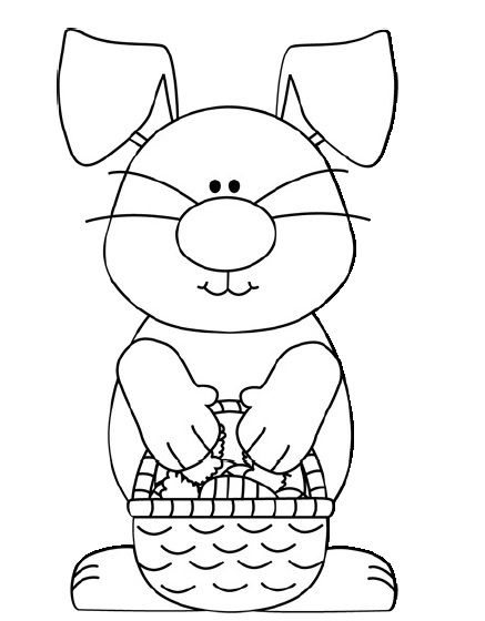 easter bunny coloring page Crafts and Worksheets for
