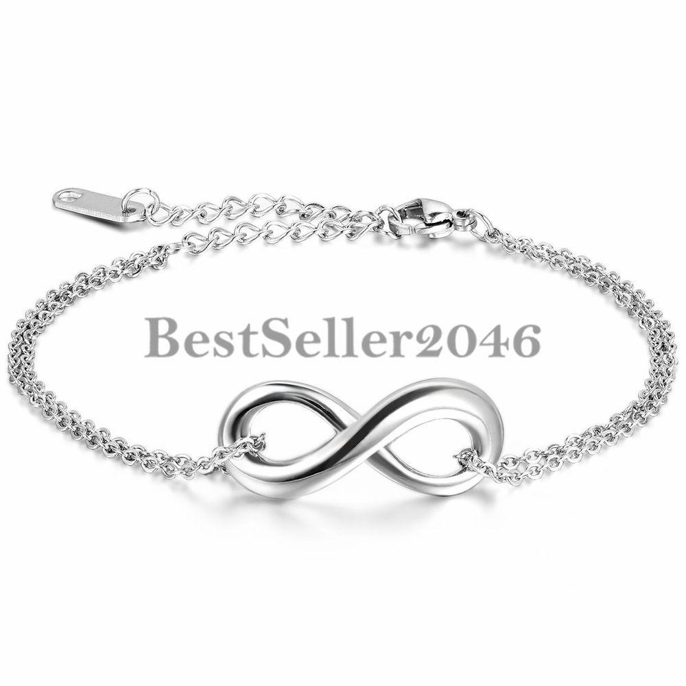 Armkette  Damen Armband Armkette Infinity Zeichen Charm Armreif Fußkett ...