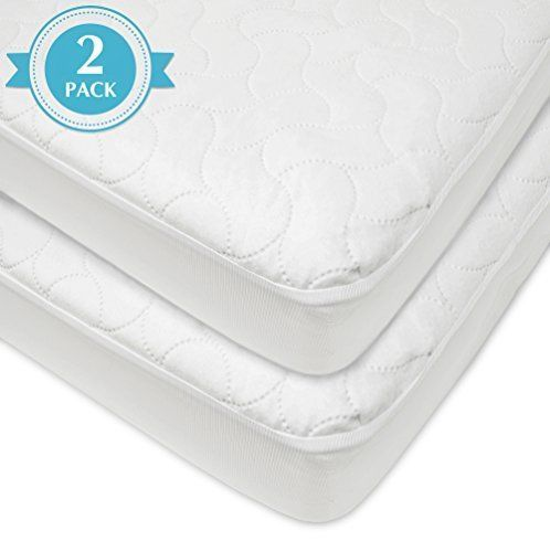 Waterproof Fitted Quilted Crib and Toddler Protective Pad
