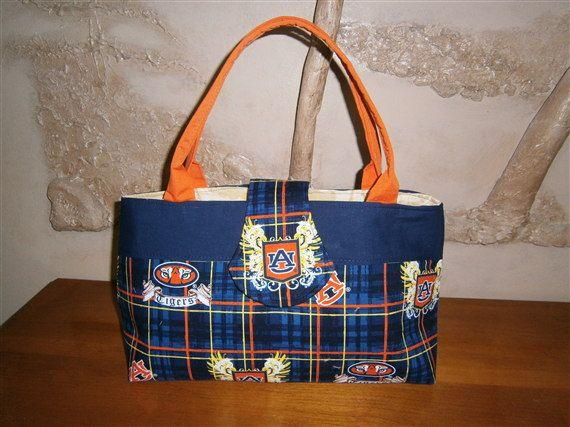 Auburn University logo handbag by hillbillyfrilly on Etsy, $27.50