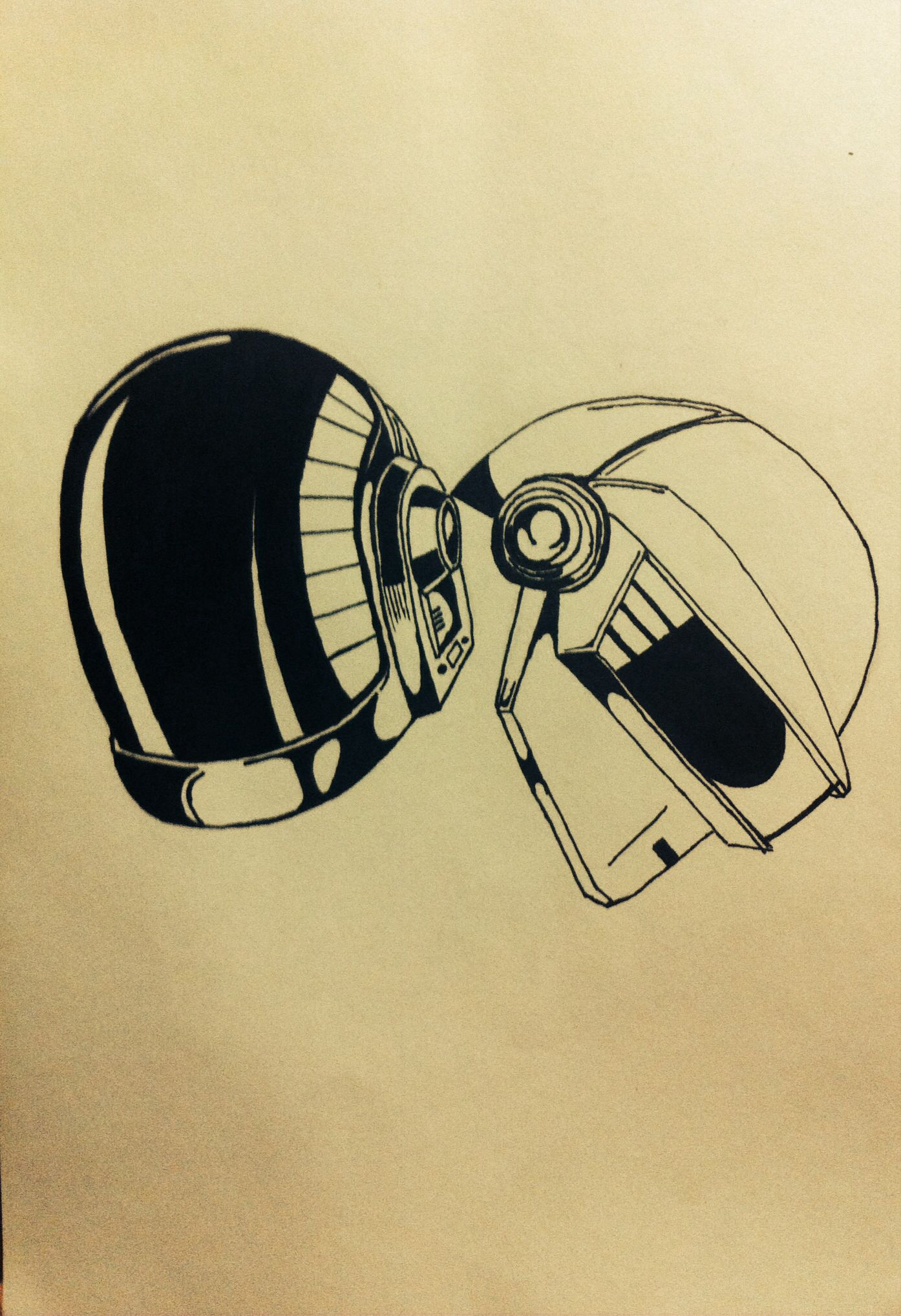 Daft Punk drawing | Daft Punk | Pinterest | Daft punk, Punk and ...