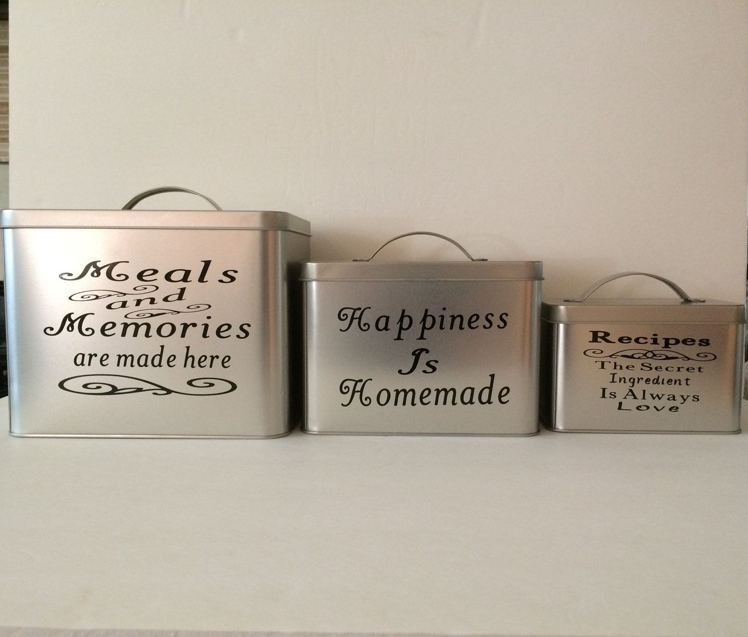 Kitchen Canister Set Personalized Canisters Storage Great Gift Housewarming