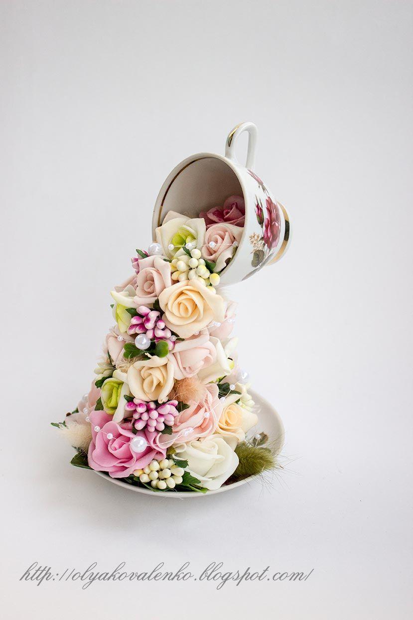 Чудеса своими руками: Цветы в чашках и ведрах | Чашки ...