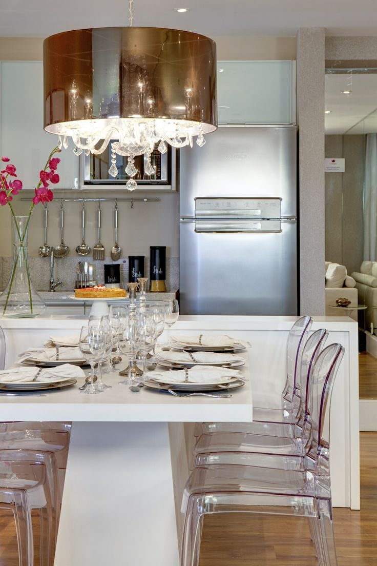 Cozinha E Sala De Jantar Conjugadas Sala De Jantar Jantares E Salas ~ Lustre Para Cozinha Americana
