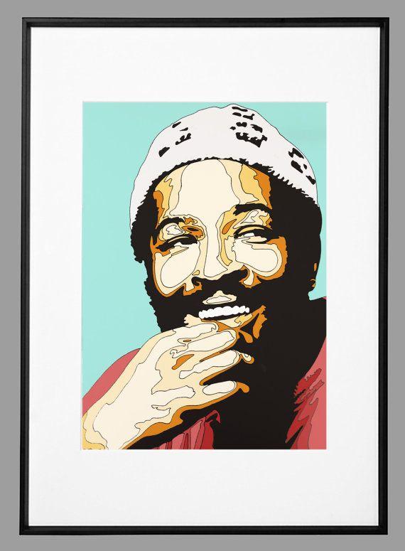 Digital art Print  Marvin Gaye by ArtIggy on Etsy
