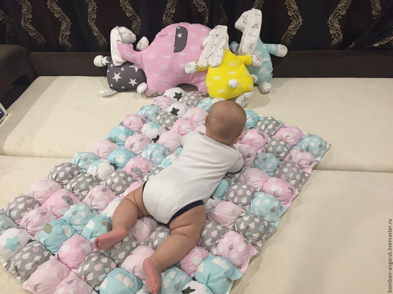 Купить Бомбон одеяло-коврик - комбинированный, бомбон одеяло, бомбон,  одеяло, коврик, коврик для детской be09de02575