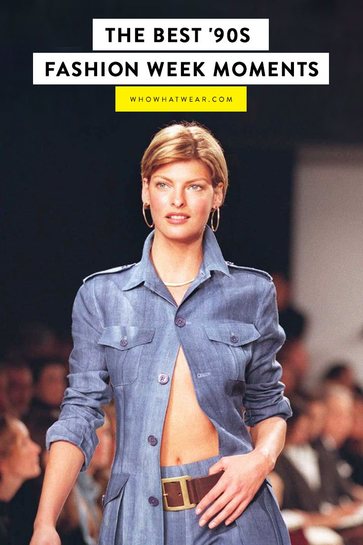 '90s flashback—these were the most iconic fashion week moments from the era.