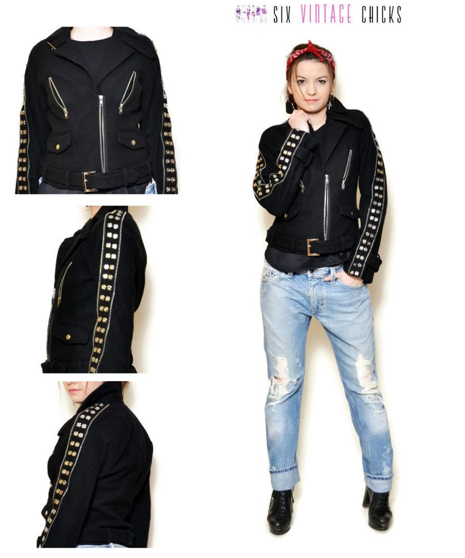 Womens sexy rock and roll clothes studded jeans