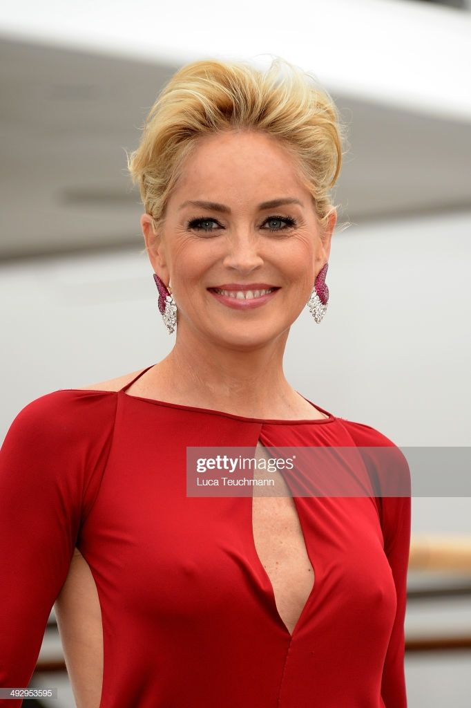 Photo of Sharon Stone is seen on day 9 of the 67th Annual Cannes Film Festival…