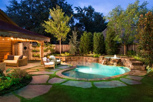 Easy Maintenance Landscaping Ideas For Around The Pool Small Backyard Pools Small Pool Design Backyard Pool Designs