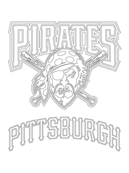 Pittsburgh Pirates Logo Coloring Page Pirate Coloring Pages