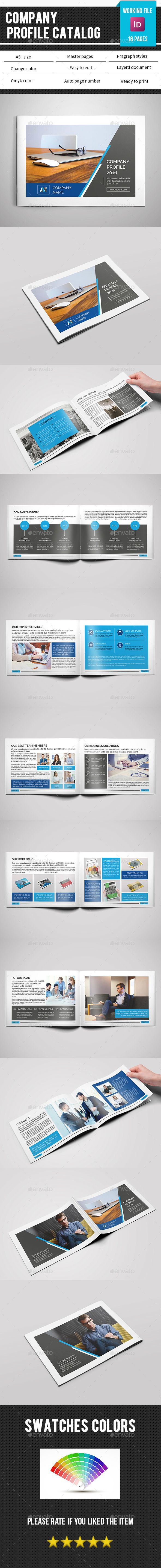 Clean Corporate Brochure / Catalog Template InDesign INDD. Download ...