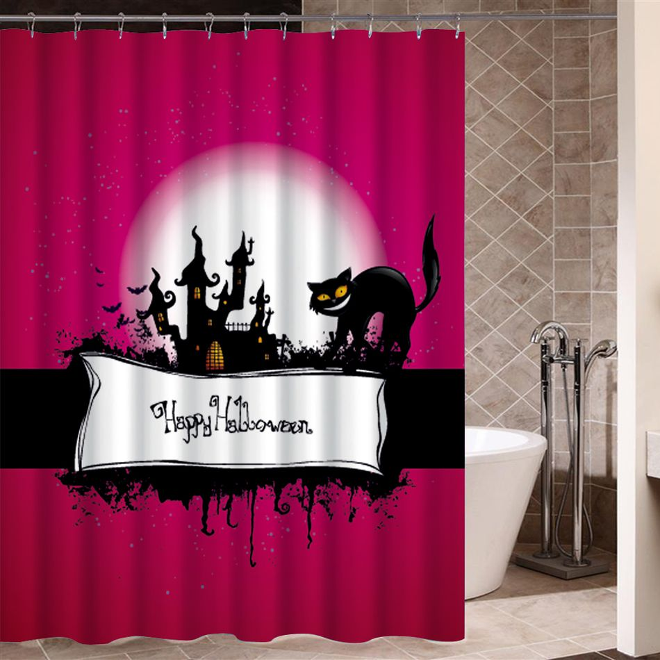 Bath Curtain Halloween Creepy Decorations Waterproof Shower Washable Bathroom Window Horror Product Beautiful Design