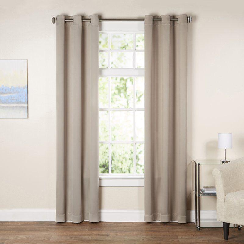 Basics Solid Blackout Grommet Single Curtain Panel Panel