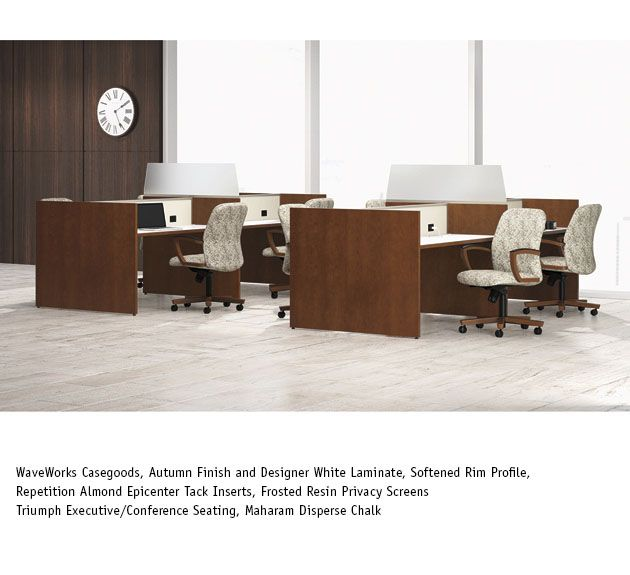 National Office Furniture Triumph Task Work Seating With Waveworks Casegoods In Collaborative Open E Area