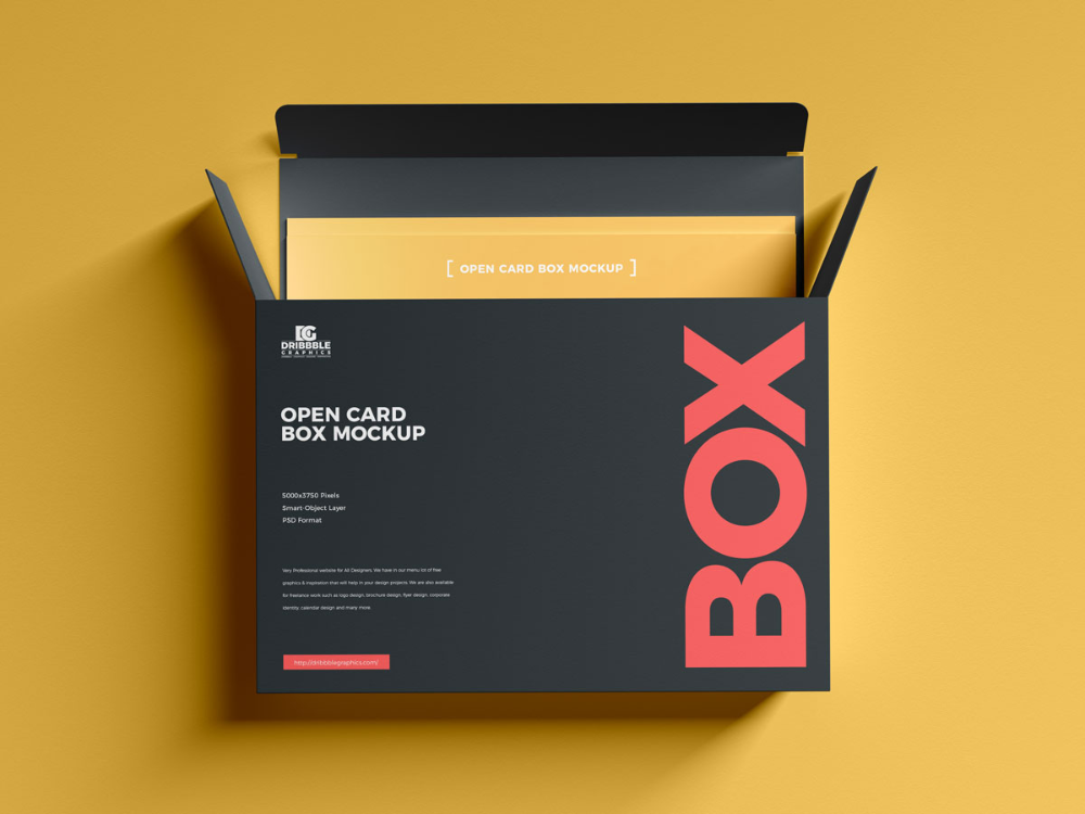 Download Free Cards Inside Open Box Mockup Design Mockup Planet Box Mockup Mockup Design Free Cards