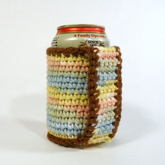 Beer Coozie Can Koozie Crochet Coozie With By Blueplanetcreations
