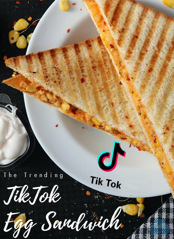 How To Make The Trending Tiktok Egg Sandwich For Breakfast Sandwiches Breakfast Food