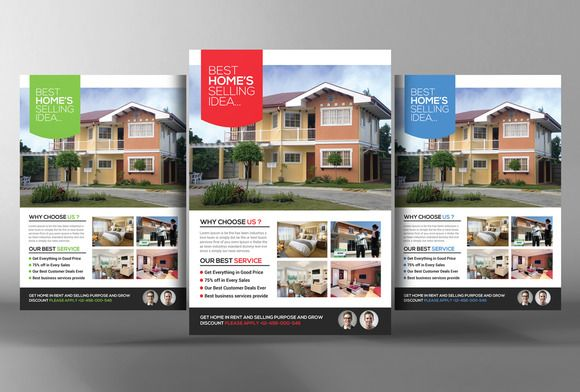Real Estate Flyer Template By Graphicsauthor Templates - Real estate brochure template